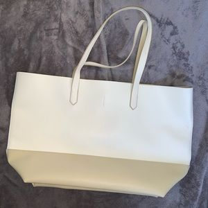 White & Beige tote bag